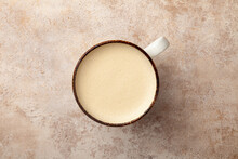 Latte Coffee Cup With Milk Fro...