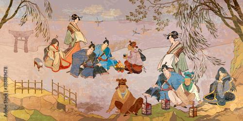 Obraz na plátně Ancient China and Japan