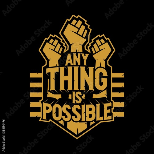 typo anything is possible Fototapeta