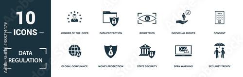 Foto Data Regulation icon set
