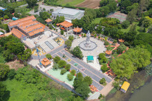 Aerial View Of Guan Yin Shrine...