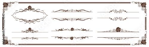 Obraz illustration of  frame set  Vector  - fototapety do salonu