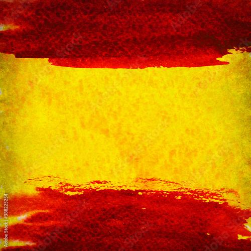 Obraz na plátně Grunge background in colors of spanish flag
