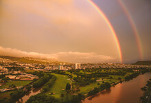 Rainbow In City Of Honolulu, O...