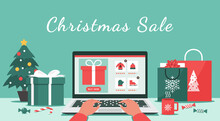 Christmas Online Shopping Or W...