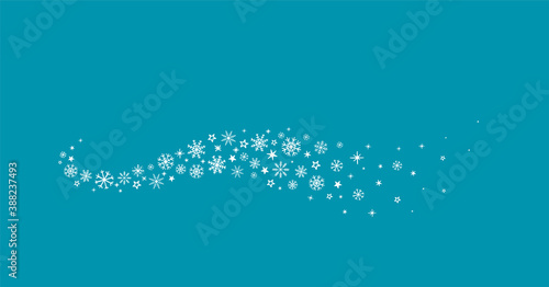 Tela winter wave with snowflakes icons on blue