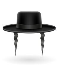 National Jewish Black Hat With...