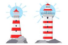 Lighthouse Vector Cartoon Illu...