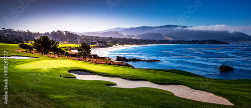 Fotografija Pebble Beach golf course, Monterey, California, usa