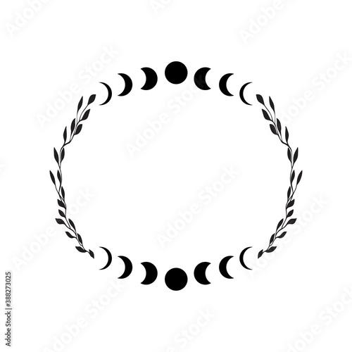 Boho celestial frame Fotobehang
