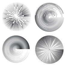 Radial Speed Lines In Spiral F...