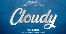 Editable Text Style Effect - Cloudy Theme Style.
