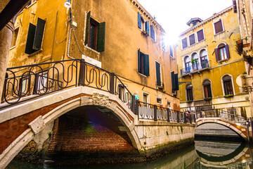 Panel Szklany Architektura historic buildings in Venice - Italy