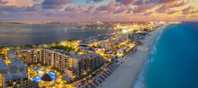 Cancun Beach During Brilliant ...