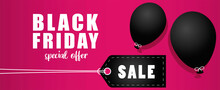 Black Friday Sale Banner With ...