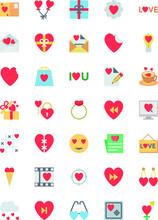 Valentine Colored Icons