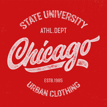 """""""Chicago"""". Ahletic Dept. Text..."""