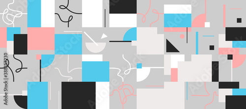 Obraz Colorful Geometric Vector Pattern Design - fototapety do salonu