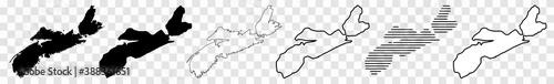 Photo Nova Scotia Map Black | Province Border | Canada State | Canadian | America | Tr