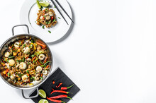 Wok With Stir Fry Udon Noodles...