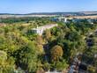 Aerial view of town of Hisarya, Bulgaria