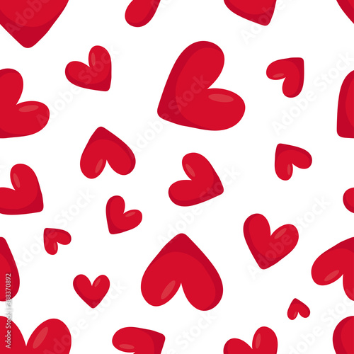 Tela Red hearts seamless pattern for textile and paper design