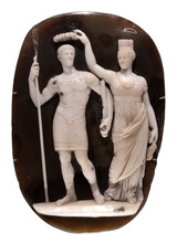 Cameo With Constantine The Great And Tyche Of Constantinople.