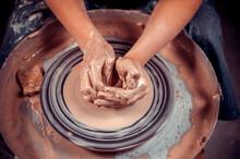 Ceramist Girl Sculpts From Cla...