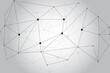 Network abstract connection isolated on gray background. Network technology background with dots and lines. Ai background. Modern abstract concept. Ai vector, network technology