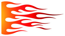 Tribal Hotrod Muscle Car Flame Graphic For Hoods, Sides And Motorcycles. Can Be Used As Decal, Sticker Or Tattoos Too.