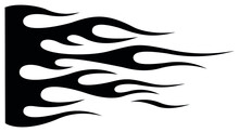 Tribal Hotrod Muscle Car Silhouette Flame Graphic For Car Hoods And Sides. Can Be Used As Decals, Mask And Tattoos Too.