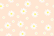 Seamless Background With Daisy Flowers