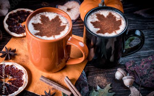 Pumpkin Spice Latte Fotobehang