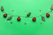 Leinwandbild Motiv Beautiful Christmas composition on color background