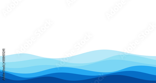 Tela Blue river ocean wave layer vector background