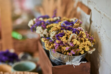 Colorful Dry Flowers Bouquet I...