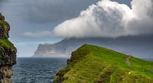 Steep Coastline Of Faroe Islan...
