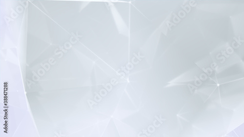 Futuristic, High Tech, white background, with network lines conveying a connectivity concept. 3D render