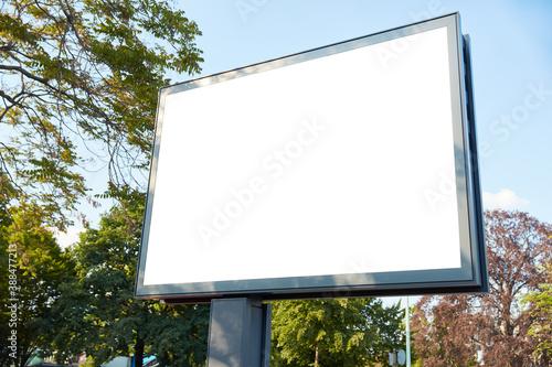 Weißes Mega-Light Digital Poster Billboard Mock-Up