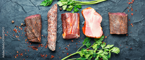 Spanish cured meat Fototapet