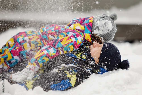 Photo Concept of winter fun, leisure and recreation.