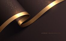 Soft Background With Gold Line...