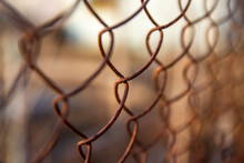 An Old Chain-link Net Made Of ...