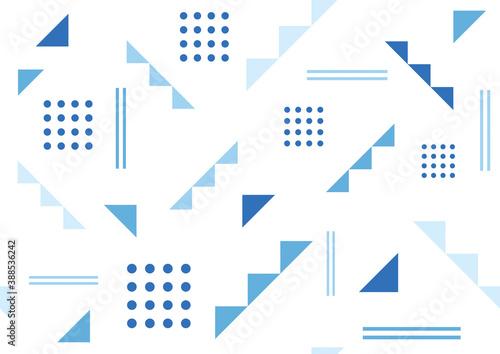 Papel de parede 幾何学模様のシームレスパターン 青