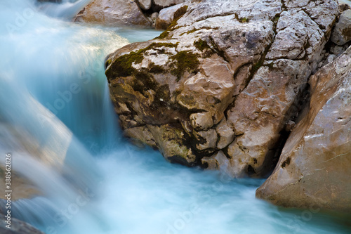 Fototapeta clear water in the river with rocks