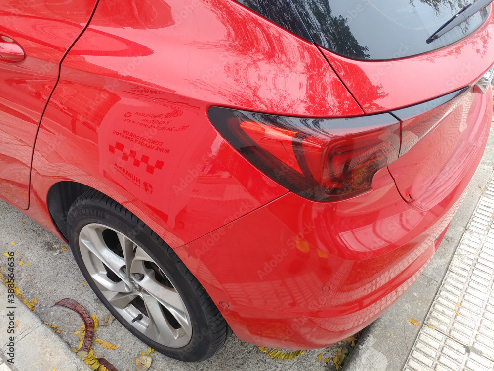 Fototapeta samochód tył światło lampa felga opona