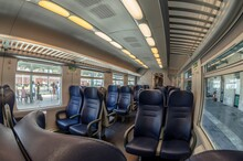 View Of The Interior Of A Trai...