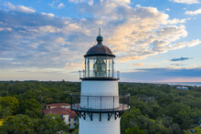 Aerial Of Sunrise At St. Simons Lighthouse