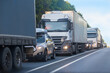 Traffic jam on a suburban highway