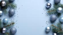 Christmas Frame. Xmas Tree Bra...